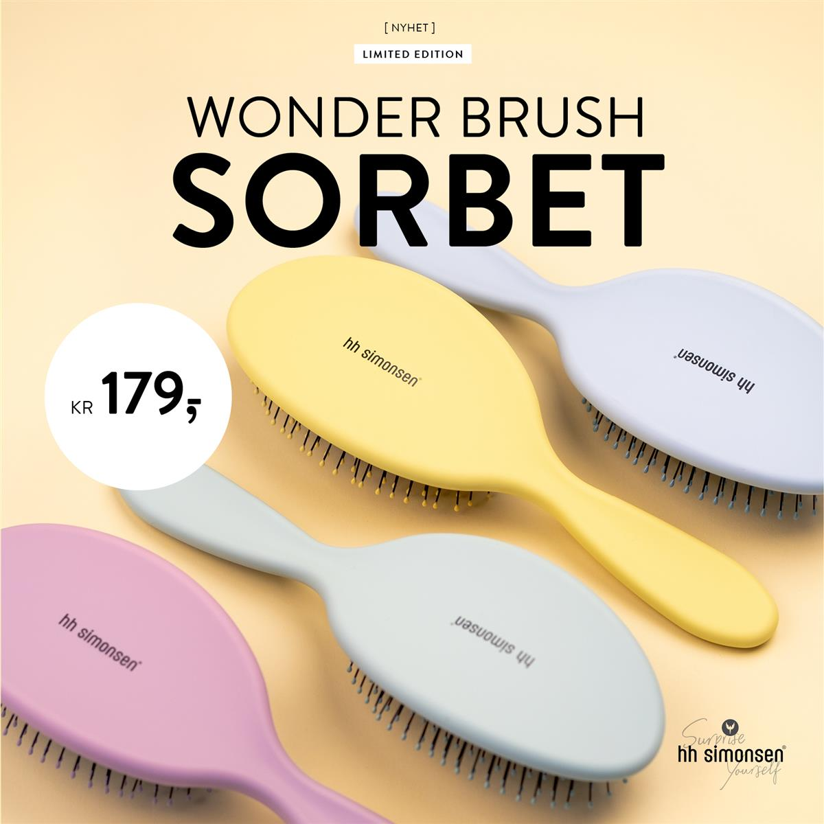 HH SIMONSEN - WONDER BRUSH SORBET - NYHET APRIL 2020