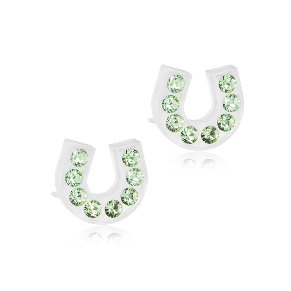 CJ MP BRILL.HORSESHOE PERIDOT 7MM