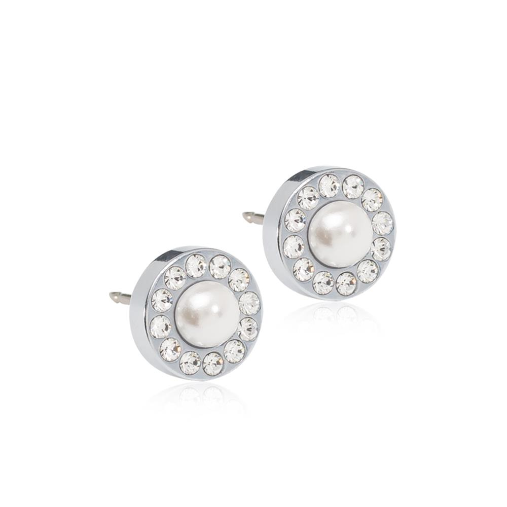CJ ST BRILL.HALO PEARL 8MM, WHITE