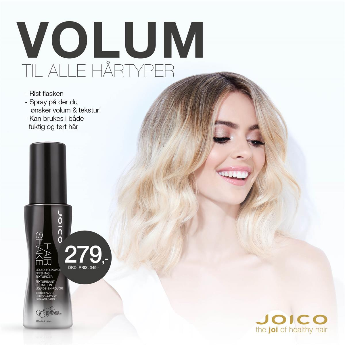 JOICO HAIRSHAKE - KAMPANJE SEPTEMBER 2019