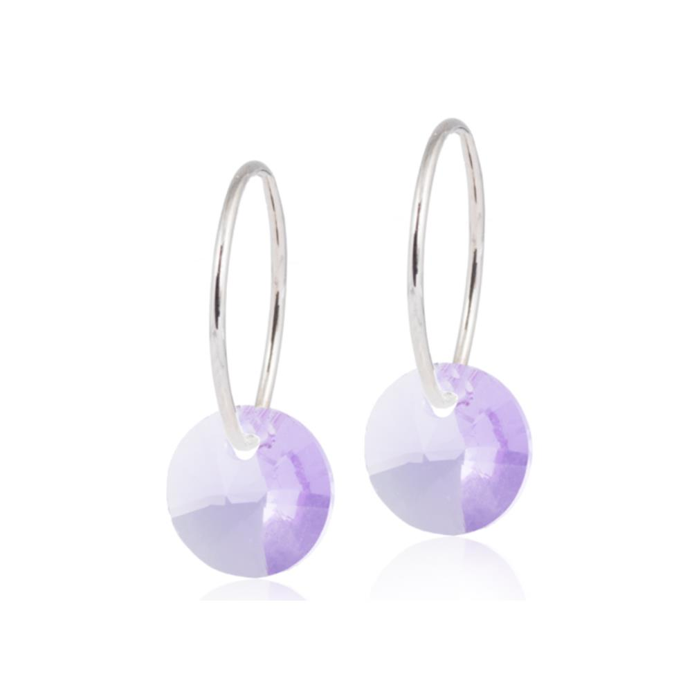 CJ NT EAR RING 14MM, ROUND VIOLET