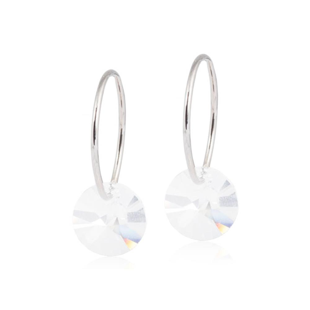 CJ NT EAR RING 14MM, ROUND CRYSTAL8MM