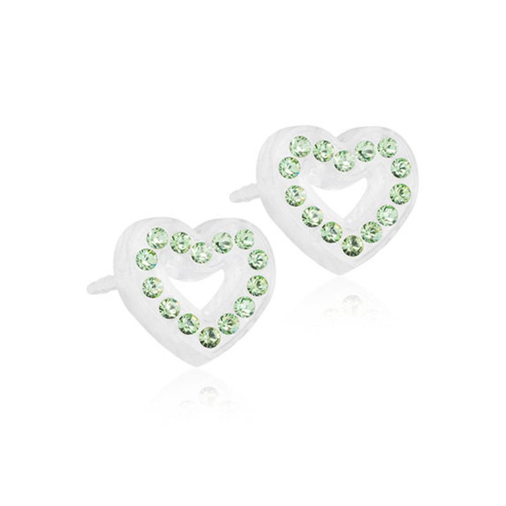 CJ MP BRILL.HEART HOLLOW PERIDOT 10MM.