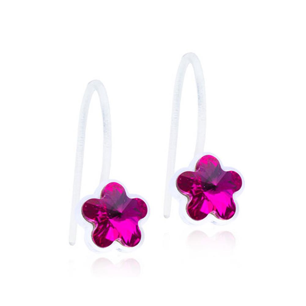 CJ MP PENDANT FIXED FLOWER FUCHSIA 6MM