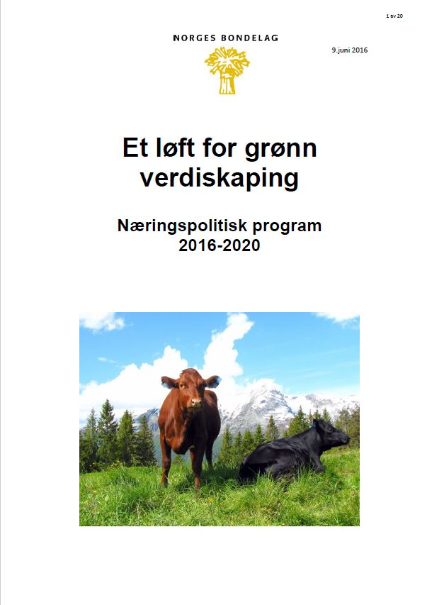 Næringspolitisk program 2016-2020