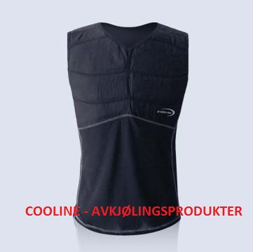 Cooline Shirt / singlet vest med glidelås. sort, str. 2XL