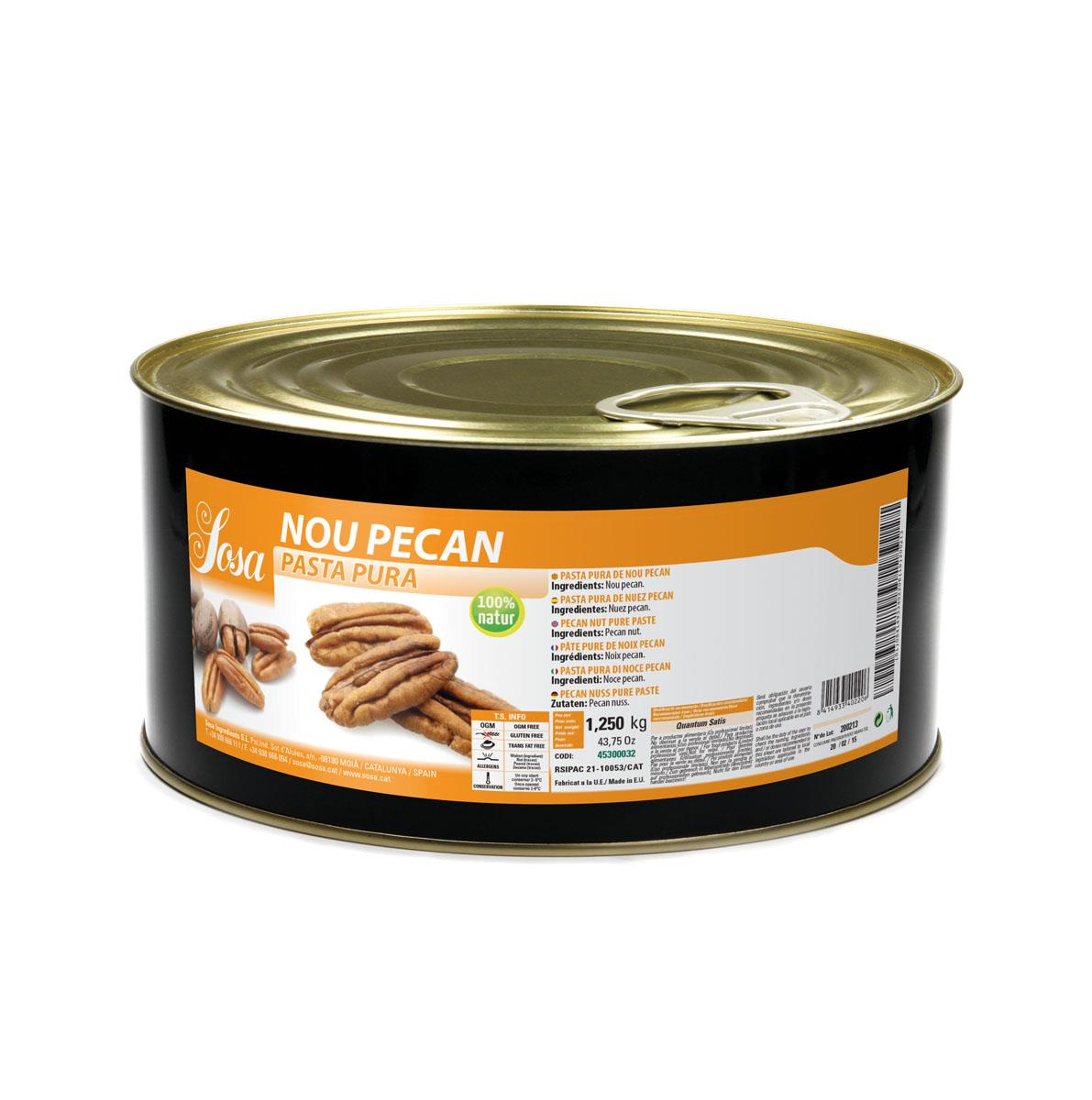 Pure Pecan Nut Paste Sosa 1 kg.