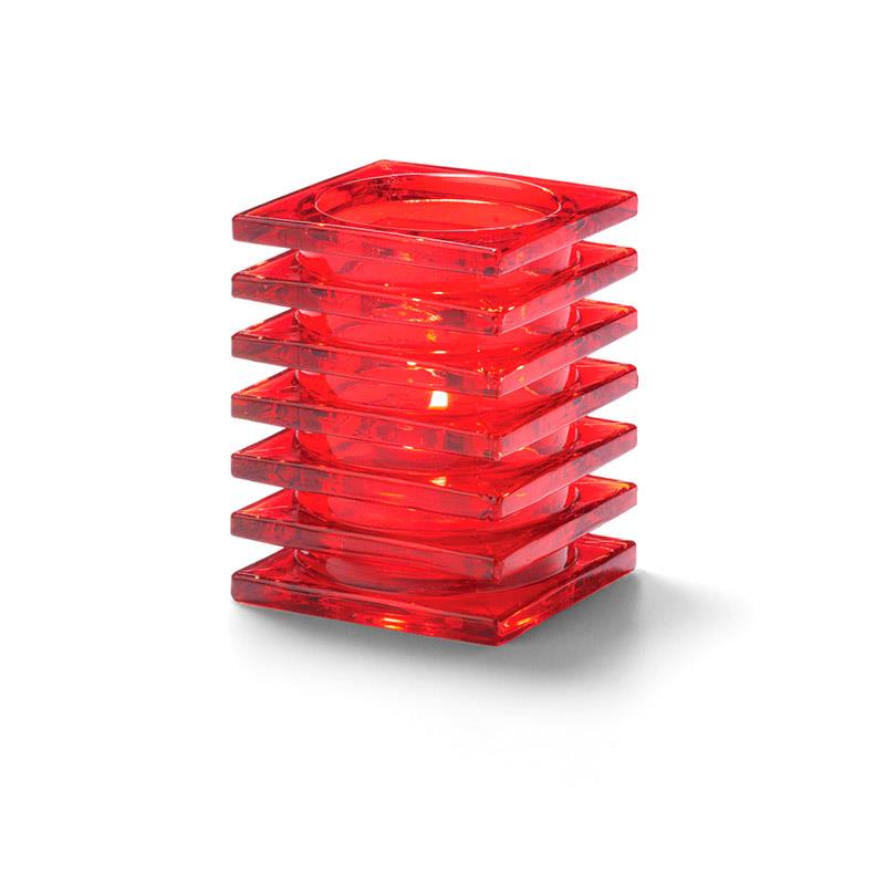 Stacked Square Block Lampeglass Rød til HD26
