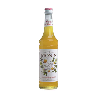 Sirup Passionfruit Gul 70cl Monin  Barkonsult