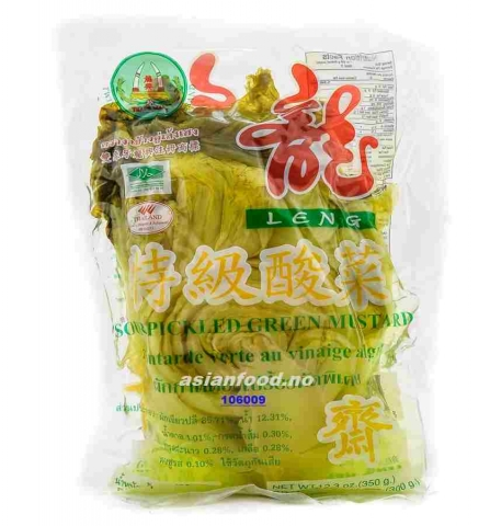 Sour Pickled Green Mustard 350gr.(36poser.krt skaffevare)  AF