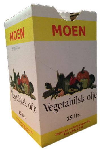 Vegetabilsk Cooking Oil 15ltr PLASTSPANN  Moen Engr.
