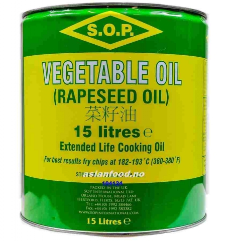 Vegetabilsk Cooking Oil 15ltr BLIKKSPANN  AF