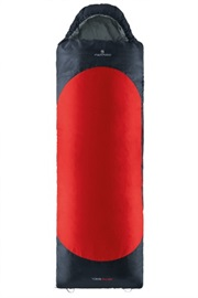 SLEEPINGBAG YUKON PRO SQ RED-GREY