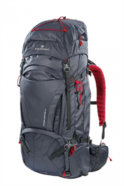 BACKPACK  OVERLAND 65+10 dark grey