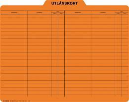 Utlånskort (orange)