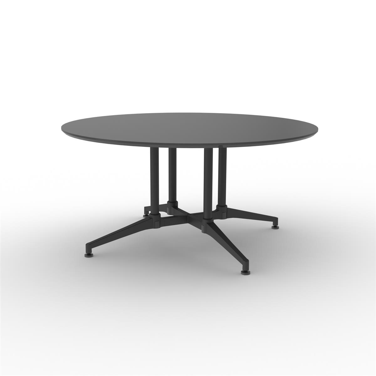 X1 Seamless Table Ø150 cm - sort linoleum & sort understell