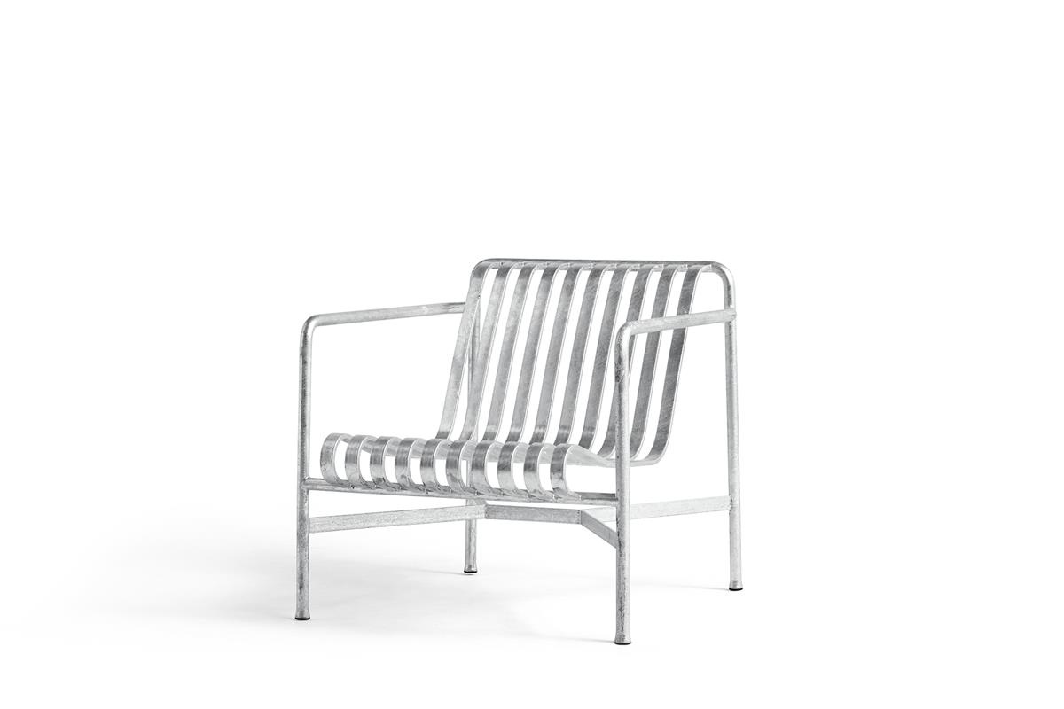 Palissade Lounge Chair Low - Hot Galvanised