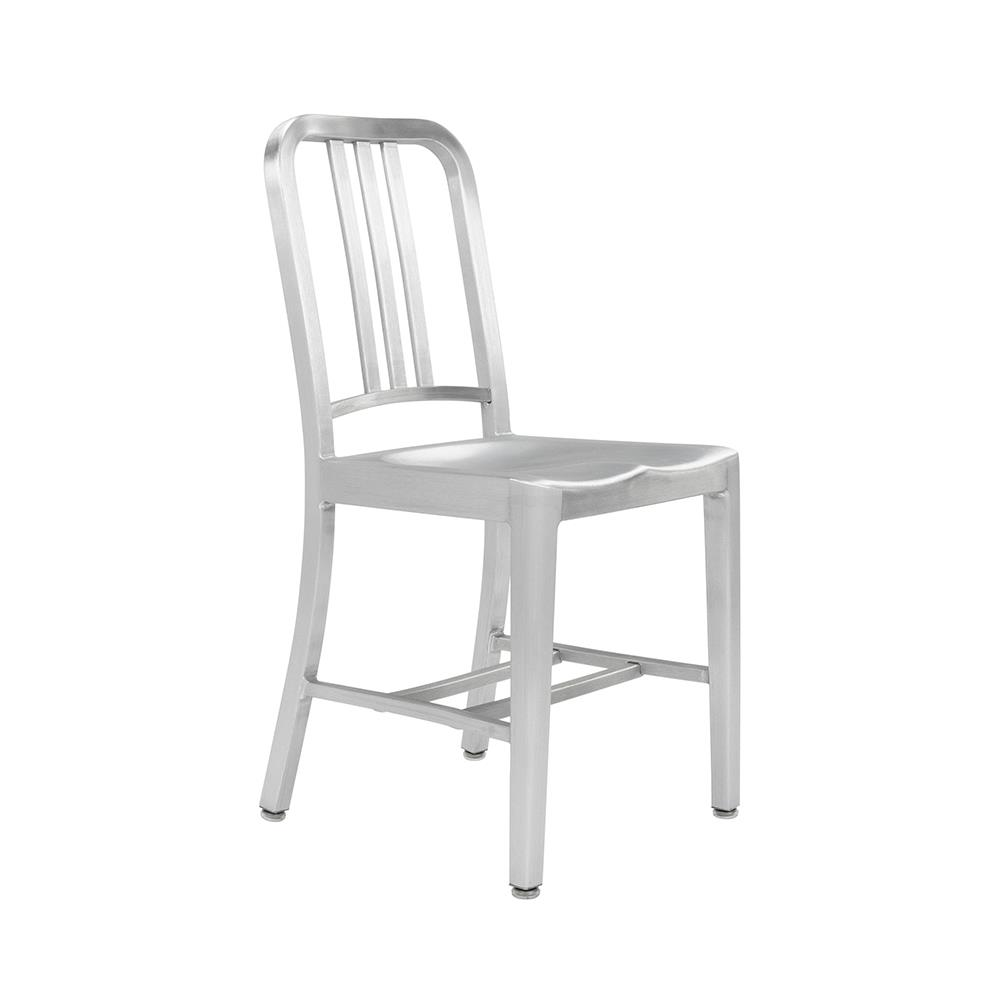 1006 Navy Chair - børstet aluminium