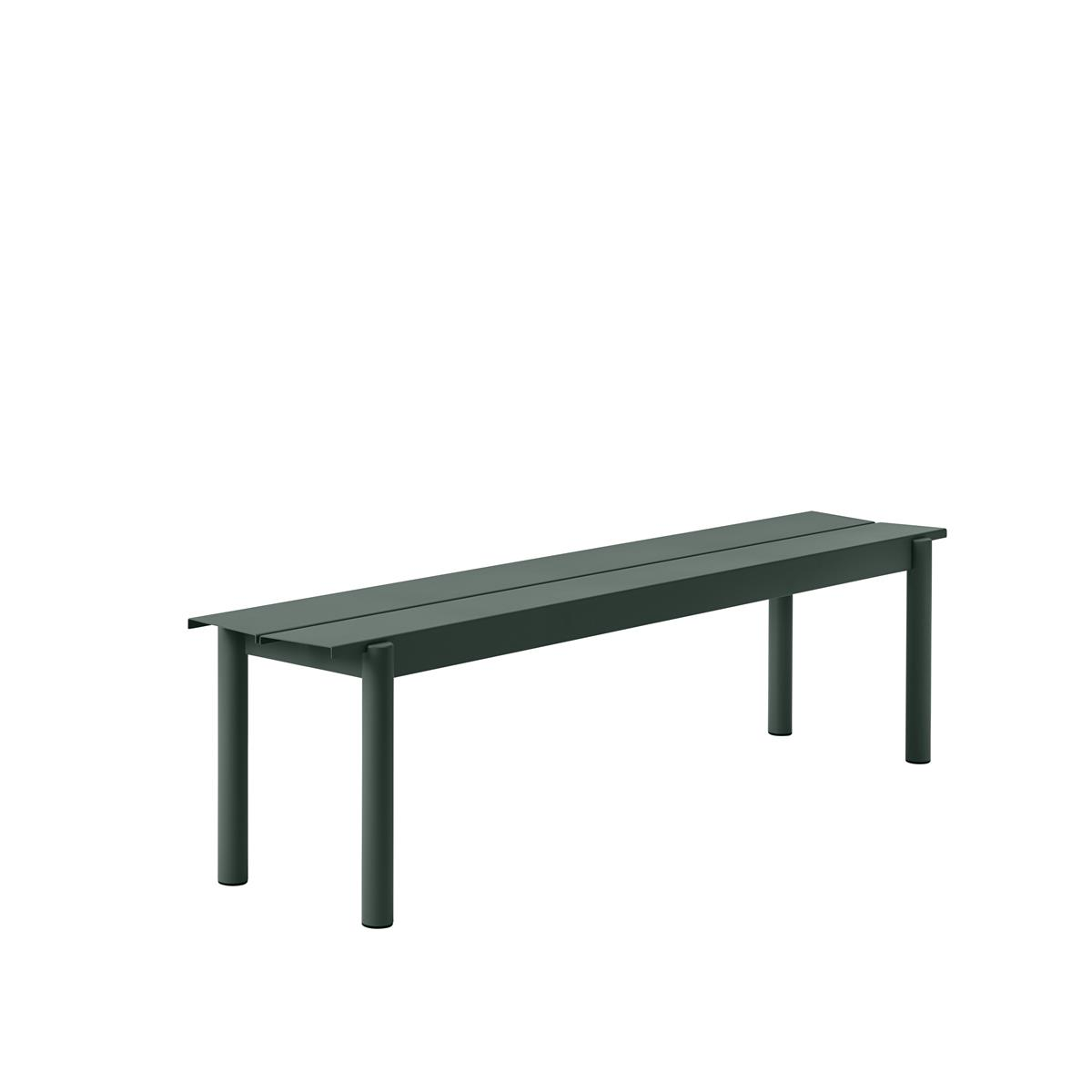 Linear Steel Bench 170 x H45,5 - Dark Green