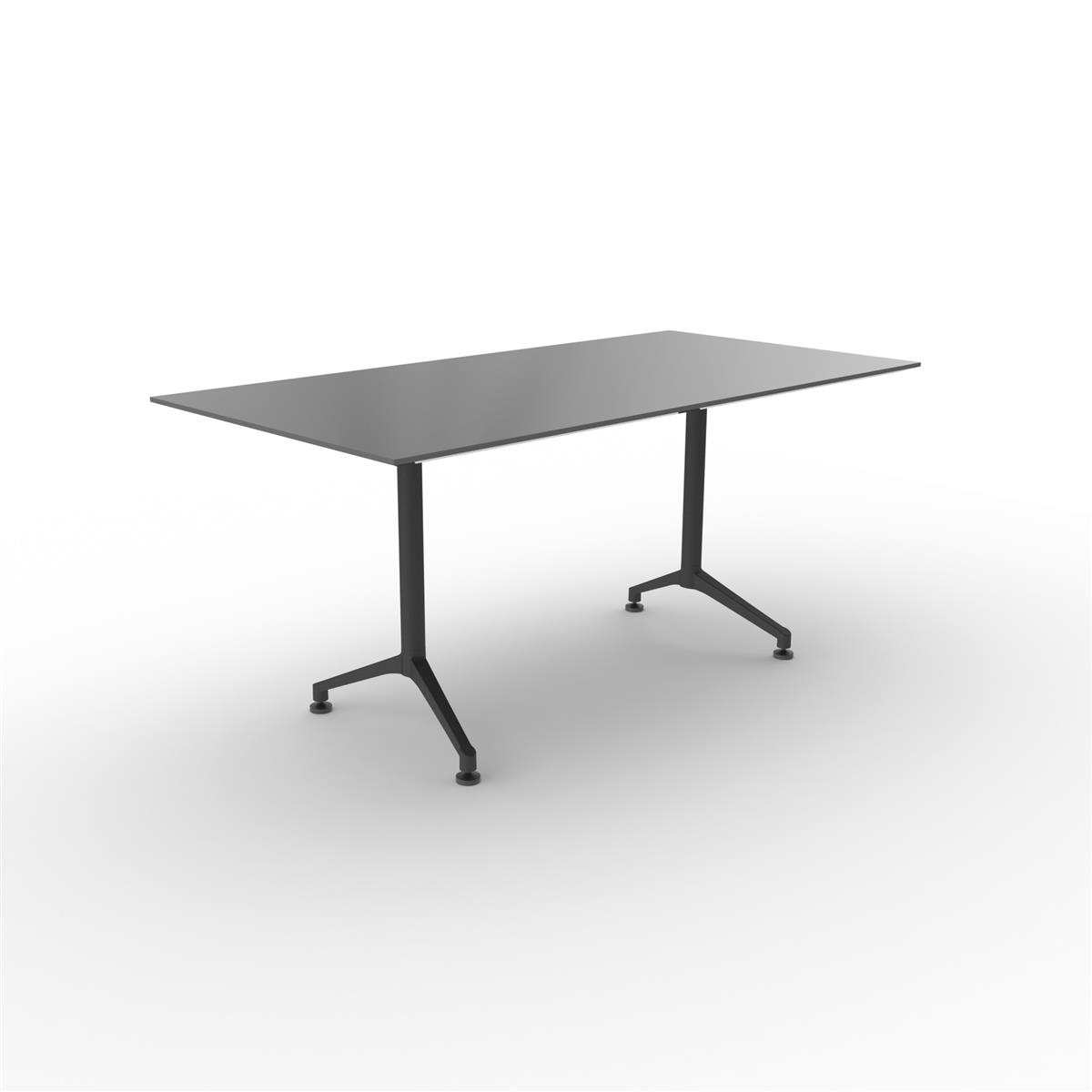 X1 Seamless Table 160x80 cm med sort linoleum