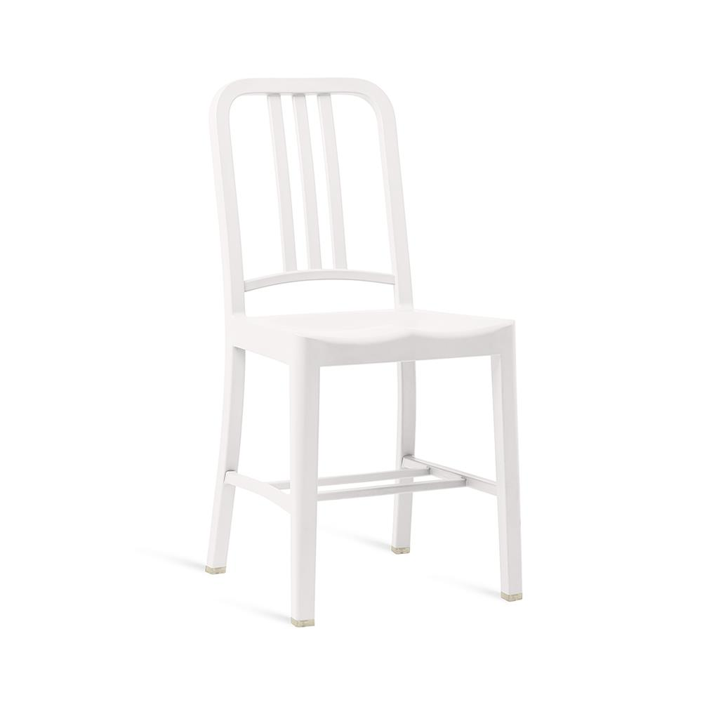 111 Navy Chair - White