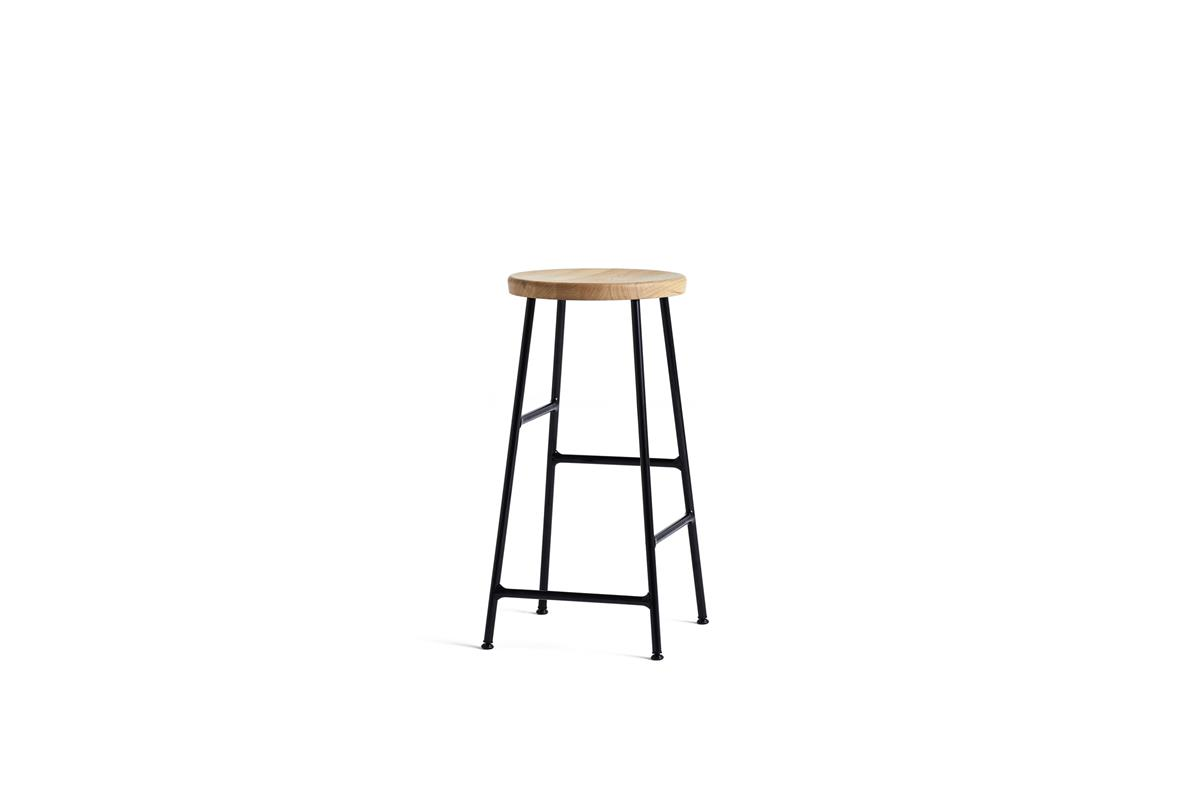 Cornet Bar Stool H65 - Oiled Oak & Black