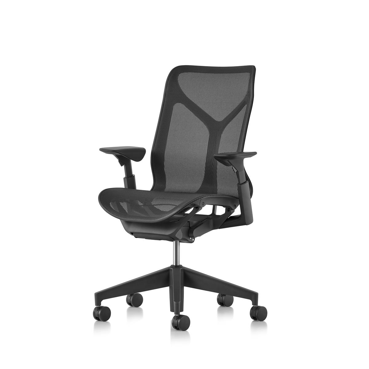 Cosm Medium Back - Graphite with Height Adjustable Arms