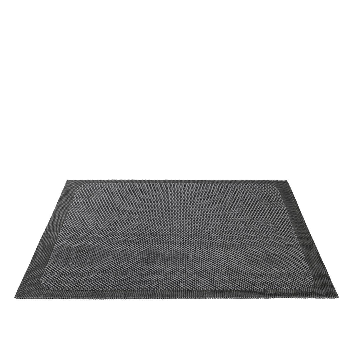 Pebble Rug. Dark Grey 200 x 300