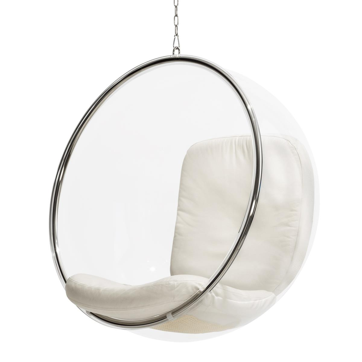 Bubble Chair White Leather
