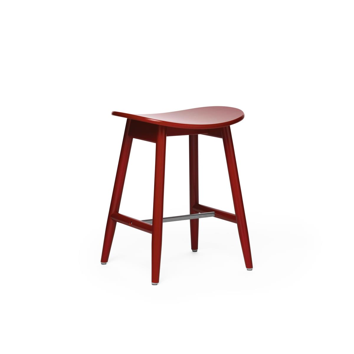 Icha Stool - Red Lacquered