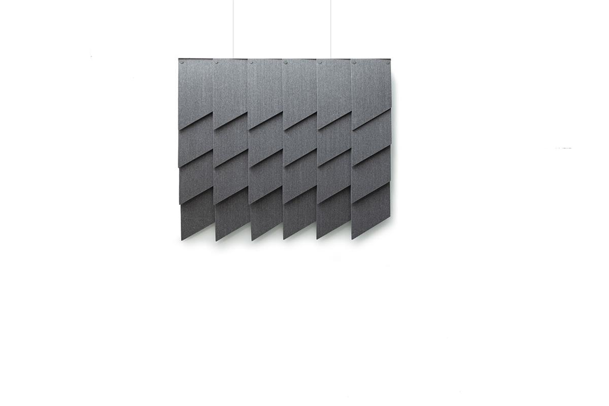 Felt Tile Slanted. 6x4. Inkl. oppheng. Kvadrat Really.