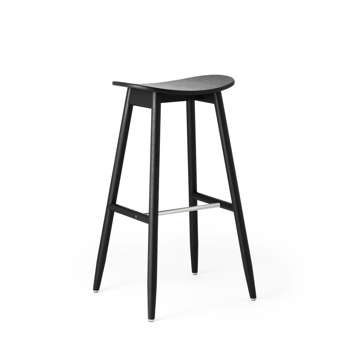 Icha Bar Stool - Black Stained Oak