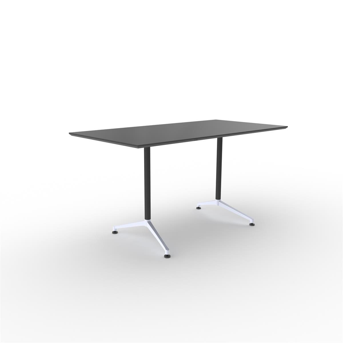 X1 Seamless Table 180x90 - sort linoleum & sort ramme