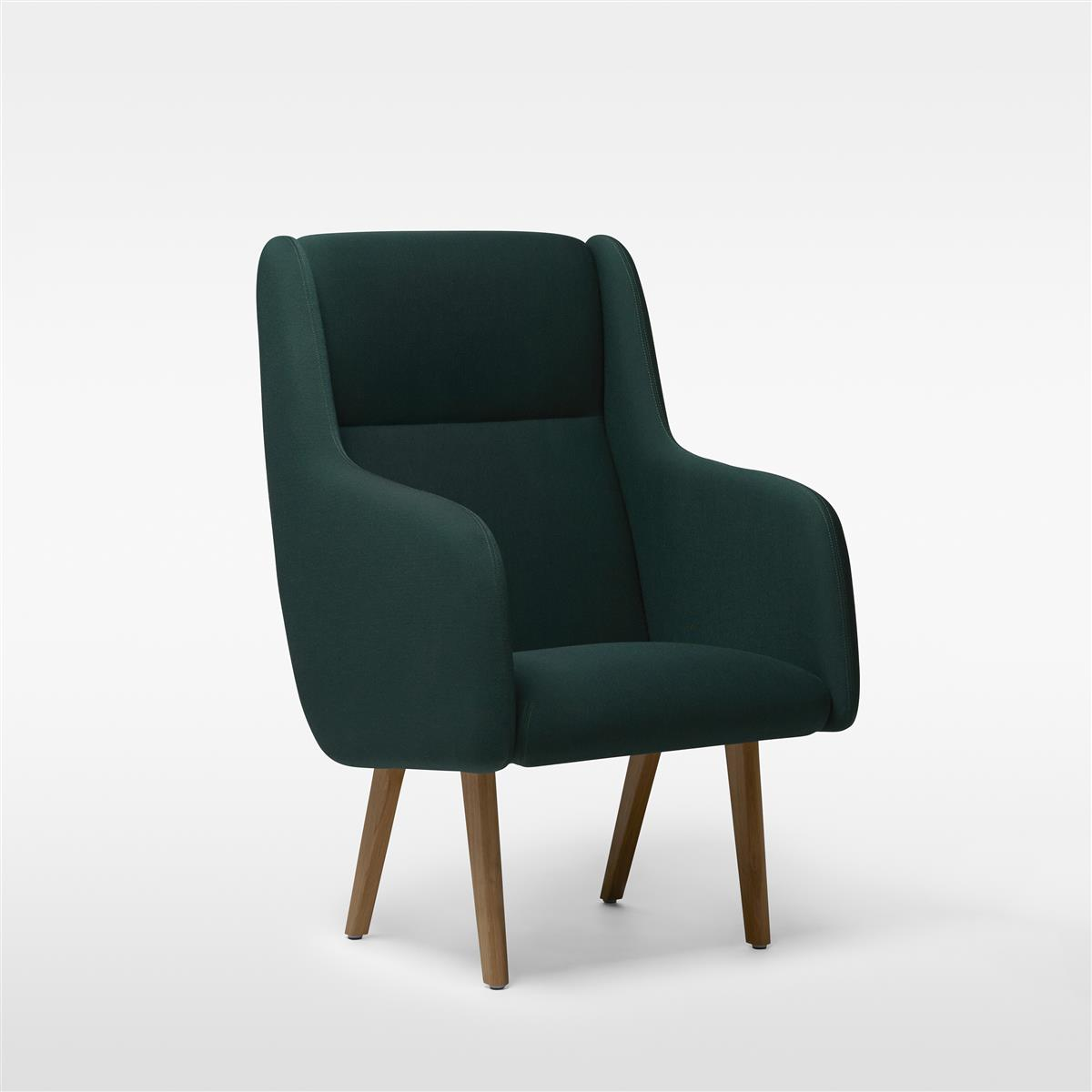 Anyway Highback Armchair - Main Line Flax, sorte ben