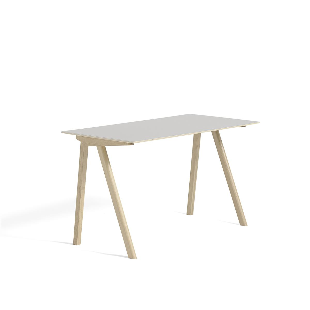 Copenhague Desk 130 x 65 - Off White linoleum & mattlakkert eik
