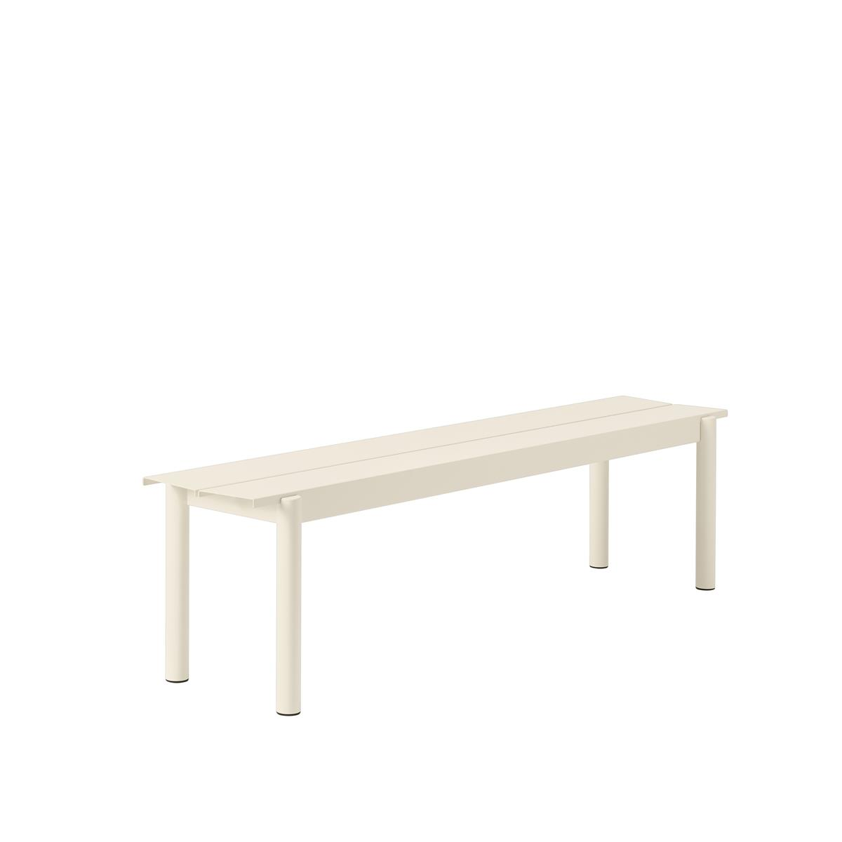 Linear Steel Bench 170 x H45,5 - White