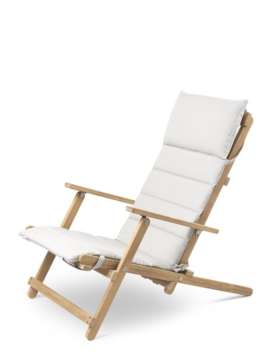 Pute til BM5568 Deck Chair i ubehandlet teak. Tekstil: Heritage Papyrus.