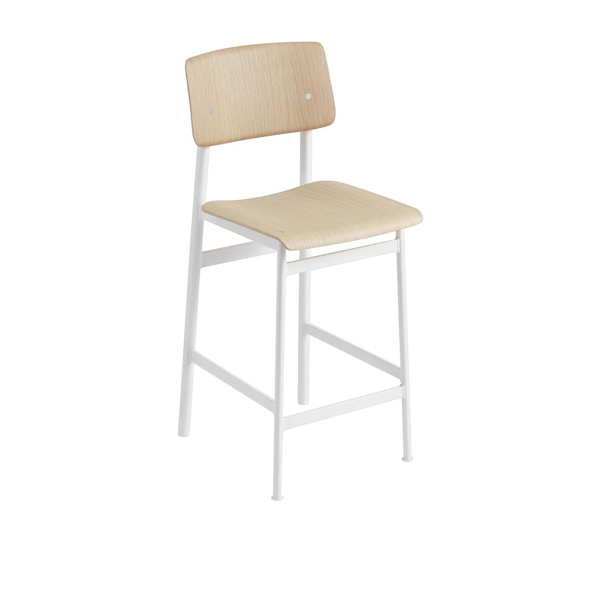 Loft Bar Stool H65 - White & Oak