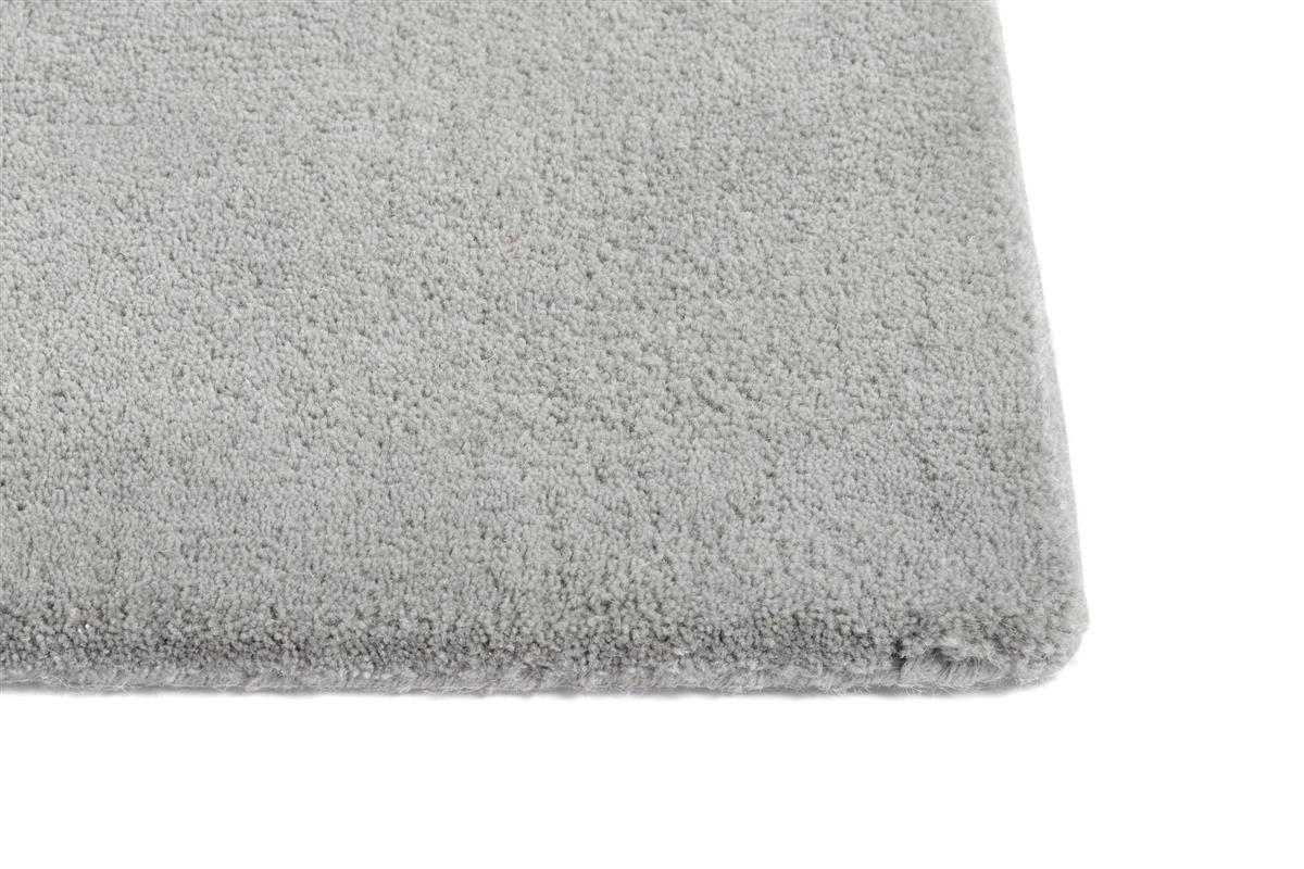 RAW RUG NO 2 LIGHT GREY. L2000 X W800. MATERIAL WOOL/COTTON BACKING