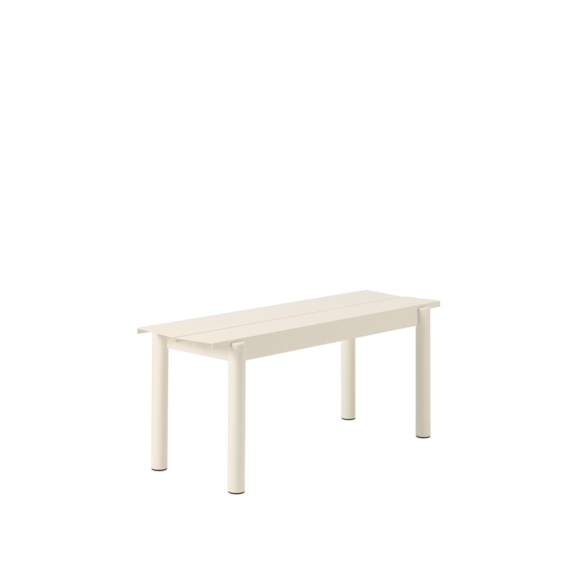 Linear Steel Bench 110 x H45,5 - White