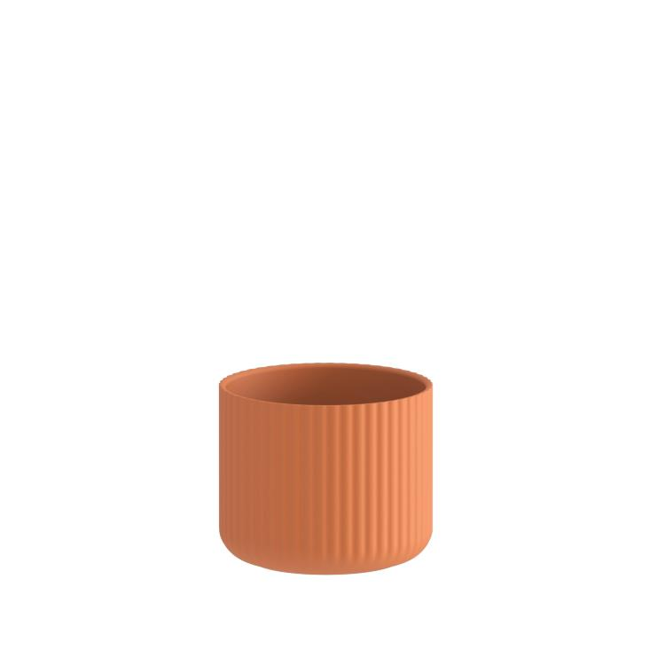 Klorofyll Medium Round Concrete Terracotta Planter