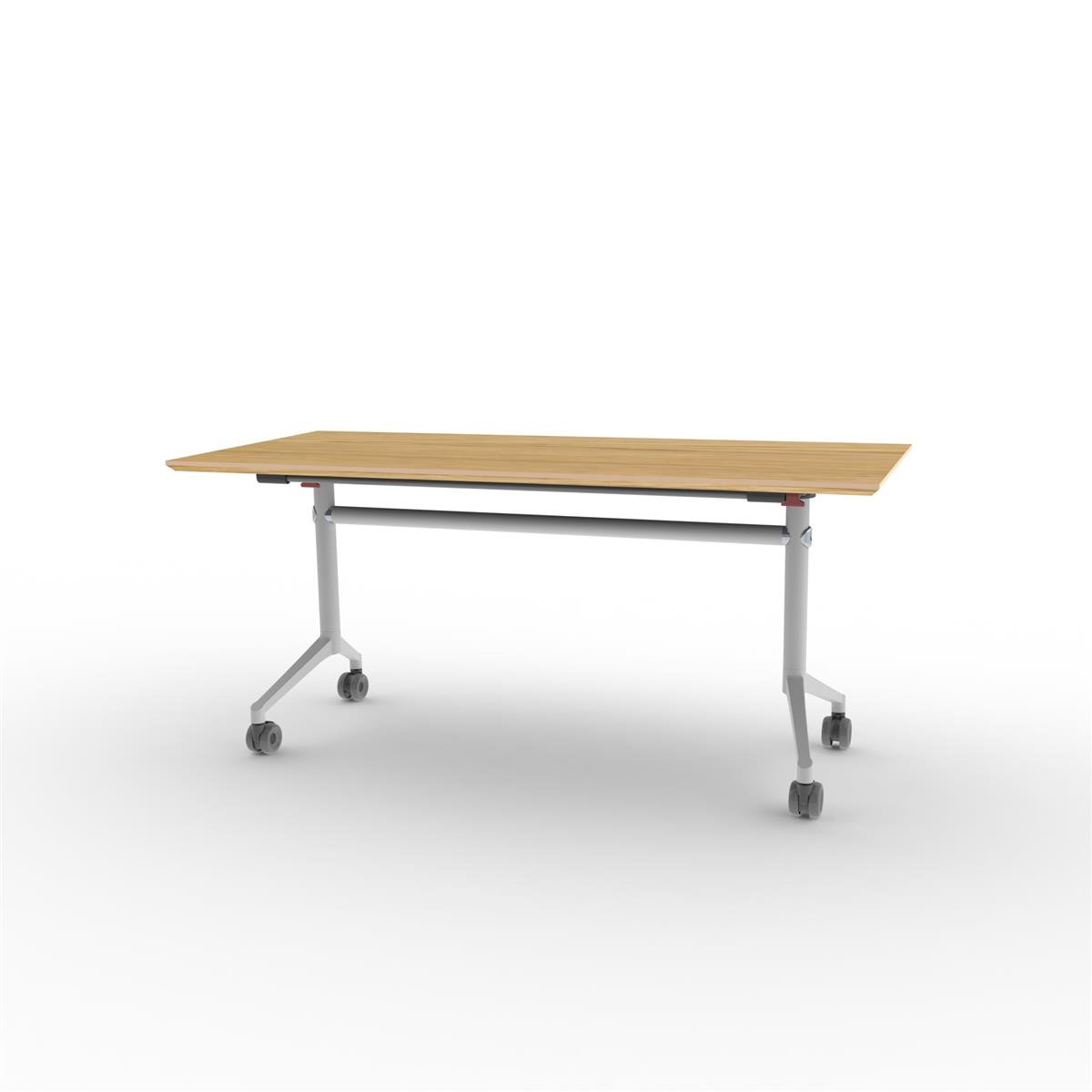 X1 Seamless Folding Table 160x70 - eik finér & hvitt understell