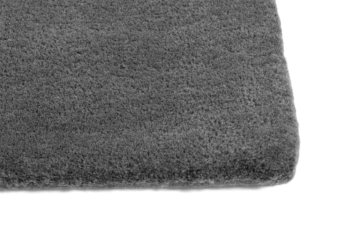 RAW RUG NO 2 DARK GREY. L2000 X W800. MATERIAL WOOL/COTTON BACKING