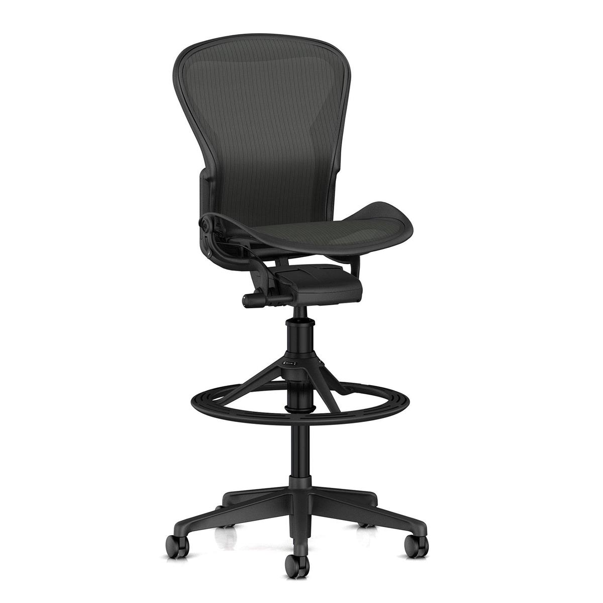 Aeron Stool Counter Height (basic) - Graphite & No Arms