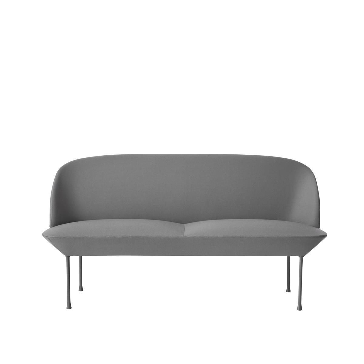 Oslo Sofa 2 Seater - Steelcut 160 & Light Grey Legs