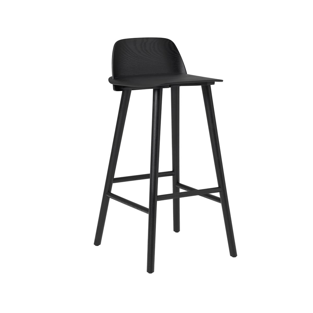 Nerd Bar Stool H75 - Black