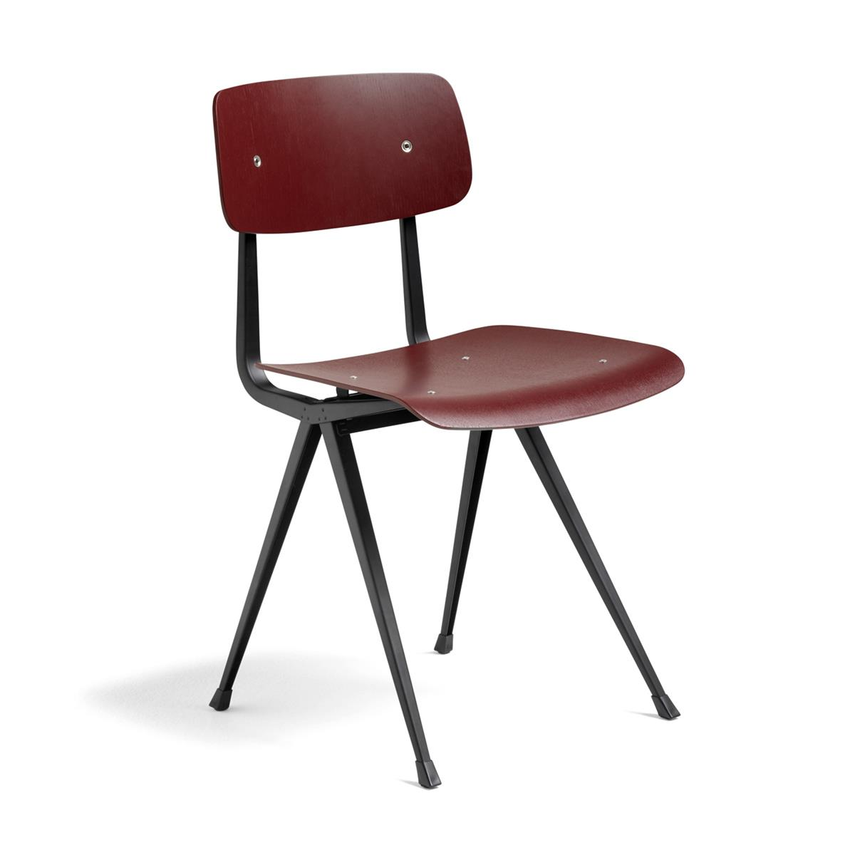 Result Chair - Dark Brick & Black