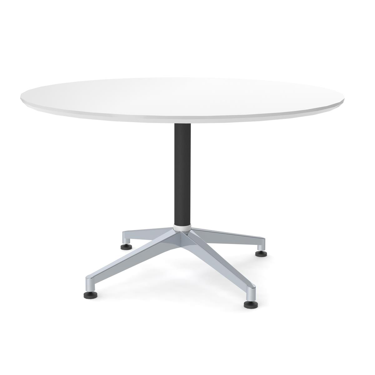X1 Seamless Table Ø120 cm med hvit HPL & sort/alu understell