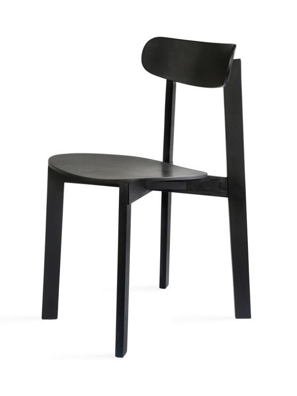 BONDI Chair. Stained Ash. Black.