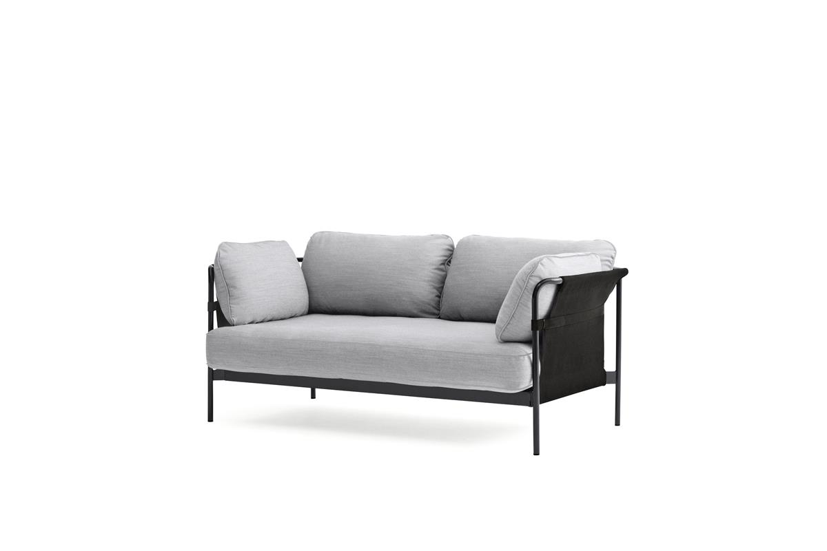 Can 2 Seater - Kvadrat Steelcut & Black